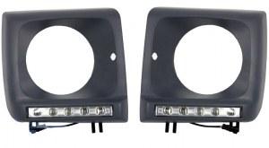 CADRES DE PHARES + FEUX LED POUR MERCEDES CLASSE G W463