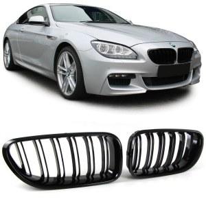 Calandre BMW série 6 F12/F13/F06 noir brillant