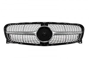 Calandre diamant argent pour Mercedes GLA 2014-2017