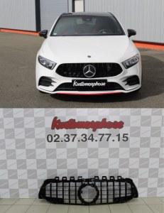 Calandre GT-R AMG Full Black pour Mercedes Classa A W177