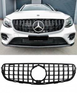 Calandre GT-R AMG Panamericana Piano Black pour Mercedes GLC (X253/C253)