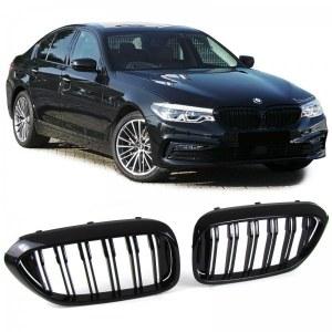 Calandre noir brillant double bâton look M4 BMW série 5 G30 G31