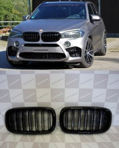 Calandre noir Brillant type M performance BMW X5 F15 X6 F16