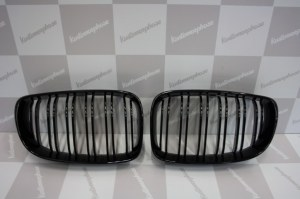 Calandre noir brillante double baton look M4 BMW serie 1 phase 2 2007-2011