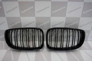 Calandre noir brillante double baton look M4 BMW serie 1 phase 2 2007-2011