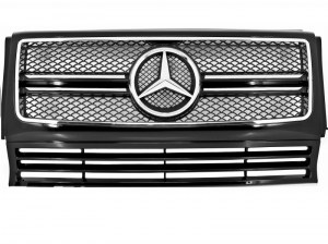 CALANDRE LOOK G65 AMG POUR MERCEDES CLASSE G W463 Black/Chrome Edition