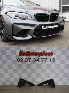 coin de pare choc avant carbone BMW serie 2 M2 F87