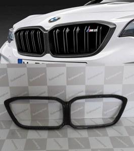 contours grilles de calandre carbone M PERFORMANCE style M2 Compétition