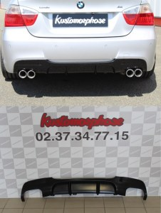 Diffuseur arrière BMW serie 3 E90 E91 pack m Duplex look Performance en ABS