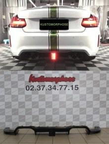 Diffuseur arrière carbone DTM F1 LED Bmw M2 F87
