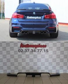 Diffuseur arrière carbone DTM F1 LED Bmw M4 F82 F83 M3 F80
