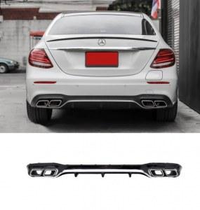 Diffuseur arrière Mercedes Classe E W213 berline Look E63 AMG pour pare choc amg line
