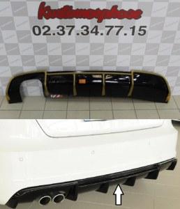 Diffuseur arrière noir brillant pour audi A3 8V S-line look RS