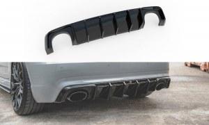 Diffuseur arrière noir brillant pour audi RS3