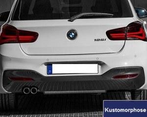 Diffuseur arrière pack M double sortie pour BMW série 1 F20 F21 LCI