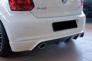 Diffuseur arrière Polo 6R 2009-2014 pour échappement ovale 115x85