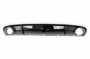 diffuseur avec embout d'échappement look RS4 pour audi A4 B8 Facelift