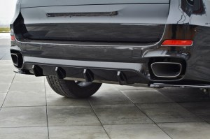 Diffuseur de pare choc arrière BMW X5 F15 Pack M Noir brillant