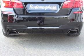 Diffuseur de pare choc arrière pack M performance Noir brillant BMW Série 5 F10 550 duplex