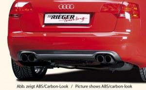 Diffuseur de pare choc arrière RIEGER carbone look Audi A4 type 8E