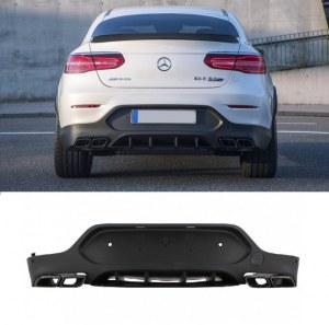 Diffuseur pare-chocs arrière Mercedes GLC Coupé C253 look GLC 63 AMG pour pare choc AMG line