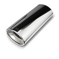 Embout d'échappement, oval, 120x80mm, 300mm, avec absorbeur, homologation CEE