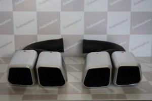 Embouts d'échappement pour Porsche Cayenne 958 look TURBO pour model V6 Diesel