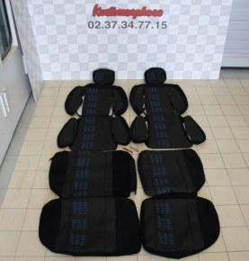 Ensemble garnitures de sièges complet tissu Alain Oreille fanion Bleu Renault 5 gt turbo phase 2
