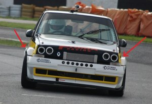 """Extension d'aile large 2,5"""" avant et arrière pour Renault 5 gt turbo"""