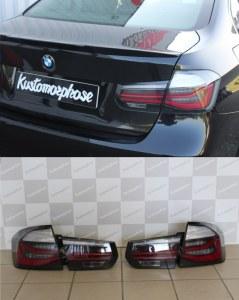 Feux arrière à LED type Black Line pour BMW Série 3 F30 Pre LCI & LCI (2011-2019)
