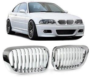 Grille de calandre Chromé BMW Série 3 E46 coupé cabriolet phase 1 99 a 2003