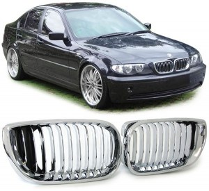 Grille de calandre chrome BMW Série 3 E46 berline phase 2