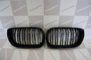 Grille de Calandre noir brillante double baton look M4 BMW E46 berline phase 1 2001 a 2005