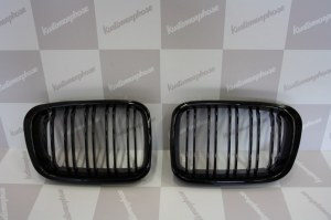 Grille de Calandre noir brillante double baton look M4 BMW E46 berline phase 1 98 a 2001