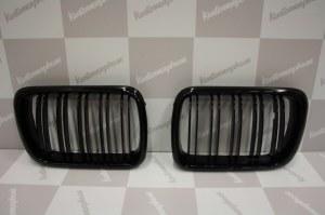 Grille de Calandre noir brillante double baton look M4 BMW E36 phase 2 1996 a 1998