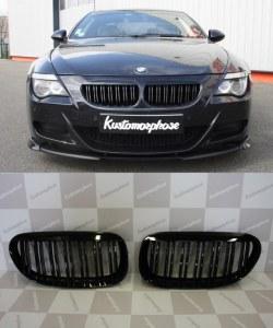 Grille de Calandre noir mat double baton look M4 BMW serie 6 E63 E64