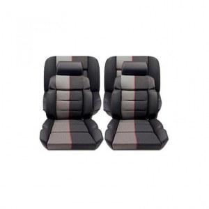 Ensemble garnitures de sièges complet cuir anthracite/tissus ramier Peugeot 205 GTI