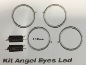 Kit angel eyes led CCFL - 106 mm universels