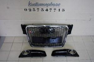 Kit calandre RS4 look + grille antibrouillard RS4 look