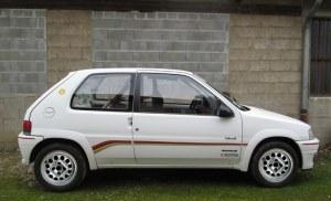 Jeu de 4 extensions d'ailes pour Peugeot 106 RALLY