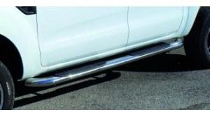 marche-pieds tubulaires INOX Pour Ford Ranger Double ou Super Cabine