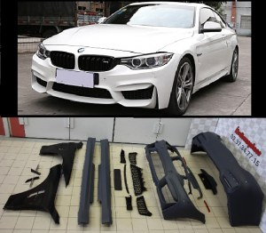 Kit carrosserie BMW F32 F33 LOOK M4 + Ailes avant