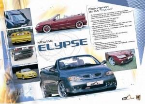 """kit carrosserie """"Elypse"""" Esquiss'Auto pour Renault Megane 1 1996 a 2002"""