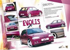 """kit carrosserie """"Evolis"""" Esquiss'Auto pour Peugeot 106 phase 1"""