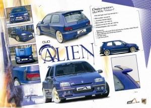 """kit carrosserie large """"ALIEN"""" Esquiss'Auto pour Renault Clio 1"""