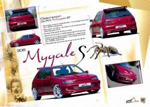 """kit carrosserie """"Mygale S"""" Esquiss'Auto pour Peugeot 306"""