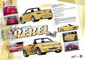 """kit carrosserie large """"Rebel"""" Esquiss'Auto pour Peugeot 306 Cabriolet"""