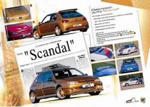 """kit carrosserie large """"Scandal"""" Esquiss'Auto pour Peugeot 306"""