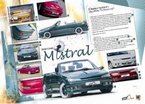 """kit carrosserie """"MISTRAL"""" Esquiss'Auto pour Peugeot 306 Cabriolet"""