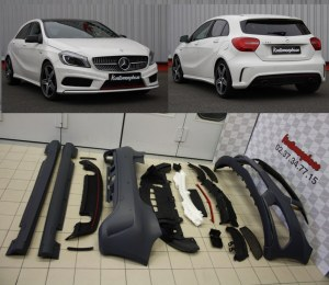 """Kit carrosserie pour Mercedes Classe A W176 Sport AMG """"RED EDITION"""""""
